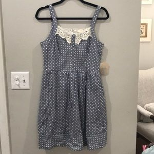 NWT Altard State Navy Stripe/Polka Dot Dress